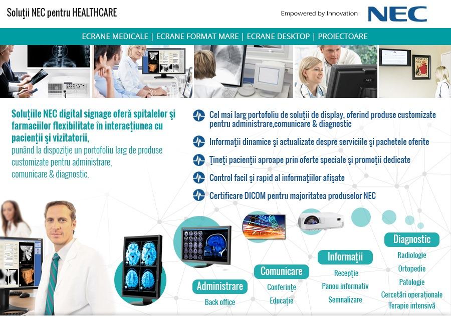 Solutii NEC pentru SANATATE HEALTHCARE